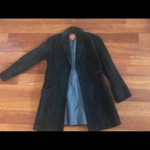 Suede navy jacket. Great for a night out!